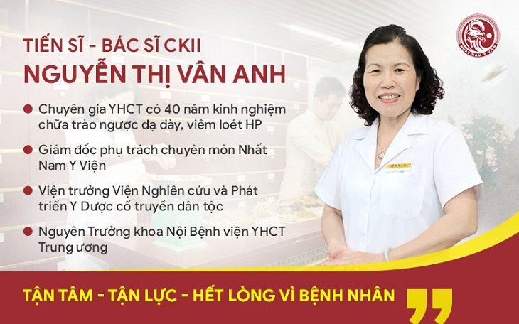 Tiến sĩ - Bác sĩ CKII Nguyễn Thị Vân Anh là người trực tiếp nghiên cứu bài thuốc Nhất Nam Bình Vị Khang