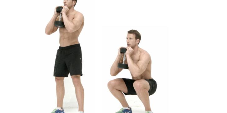 Bài tập squat với tạ chống xuất tinh sớm