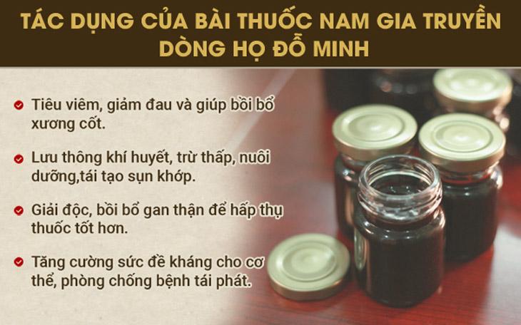 Tác dụng của bài thuốc của Nhà thuốc Đỗ Minh Đường