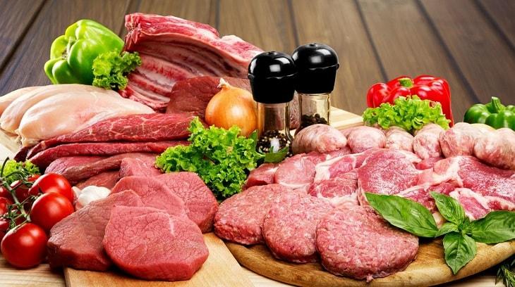 Các loại thịt lợn, gà, dê, cừu là những loại thịt rất tốt để ngăn chặn xuất tinh sớm ở nam giới