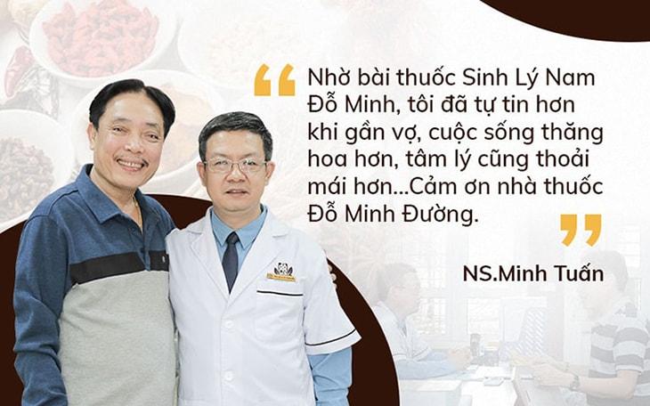 """NSUT Minh Tuấn tin tưởng lựa chọn Sinh lý nam Đỗ Minh để """"hồi xuân"""""""