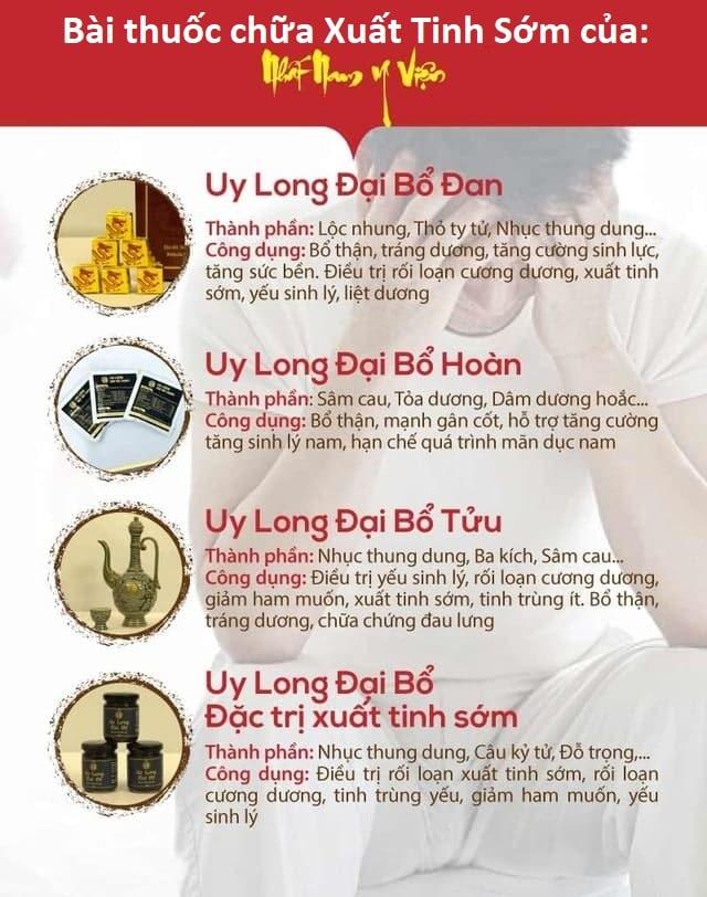 Bài thuốc Uy Long Đại Bổ chữa xuất tinh sớm