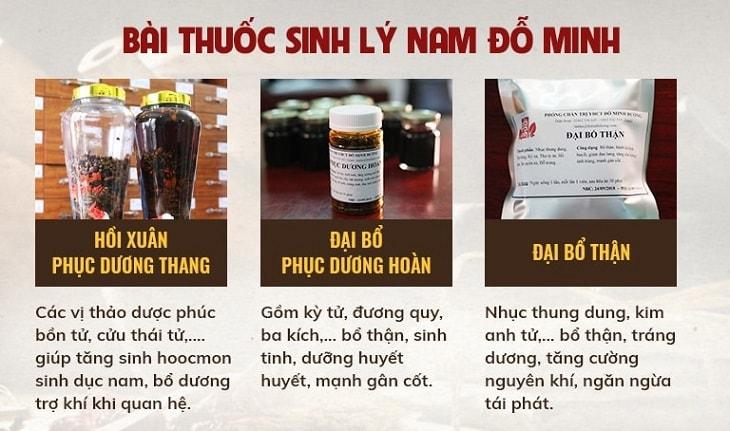 Chi tiết thành phần, công dụng bài thuốc trị yếu sinh lý của Đỗ Minh Đường