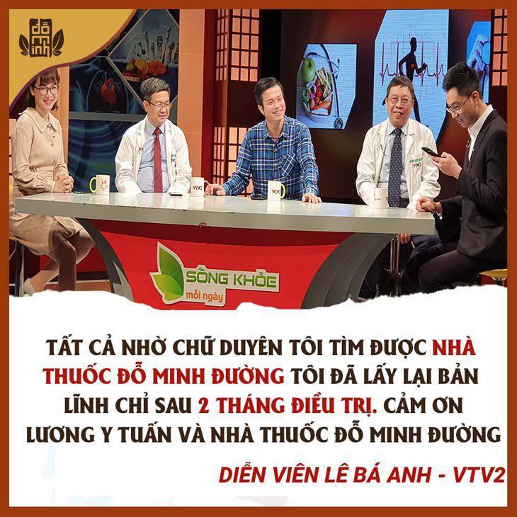 Diễn viên Lê Bá Anh chia sẻ trên VTV2 – Sống khỏe mỗi ngày