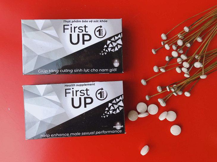 Thuốc chống xuất tinh sớm First Up 1Hour giúp nam giới kéo dài cuộc yêu