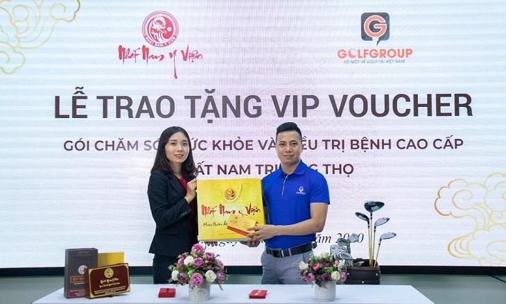 lễ ký kết hợp tác giữa Nhât Nam Y Viện và Golfgroup
