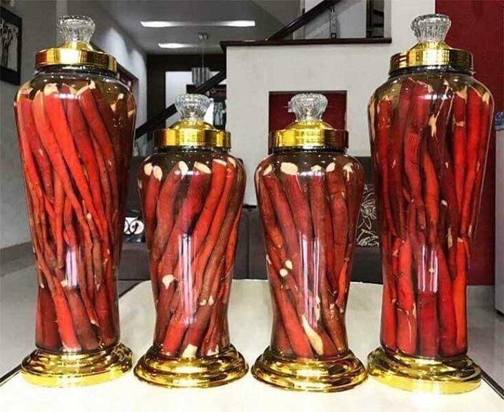 Rượu ngâm rễ cau tươi là phương pháp đơn giản, dễ thực hiện nhưng mang lại hiệu quả cao