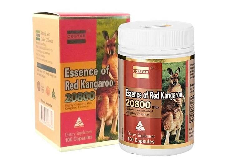 Essence of Red Kangaroo được chiết xuất từ tinh hoàn Kangaroo giúp phái mạnh đạt được khoái cảm khi quan hệ