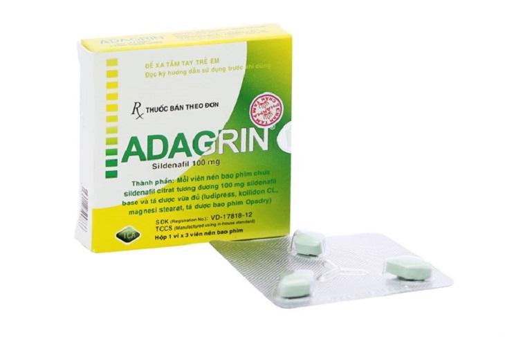 Adagrin có thể mua tại các nhà thuốc bệnh viện
