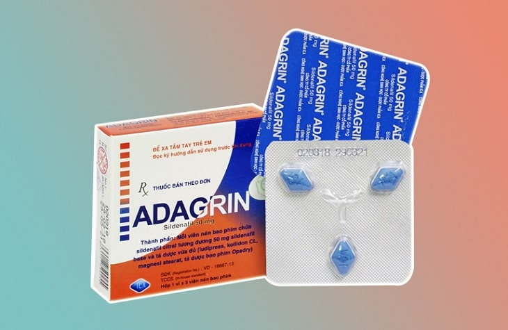 Adagrin là thuốc điều trị yếu sinh lý, rối loạn cương dương