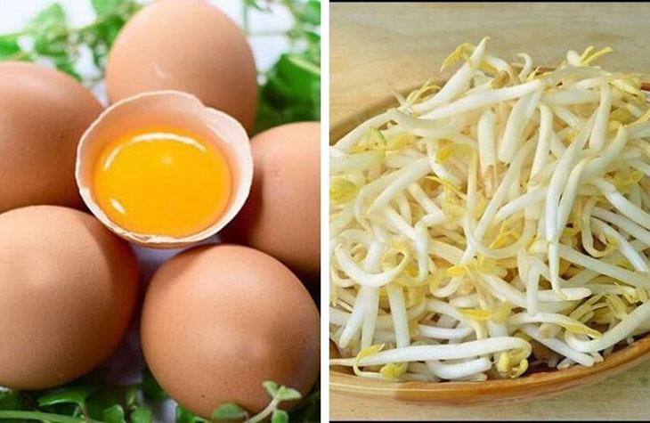Cách điều trị sinh lý yếu với trứng gà - giá đỗ