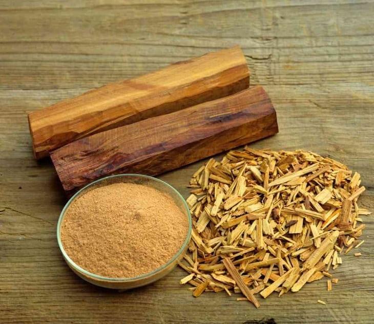 Sử dụng bột gỗ đàn hương