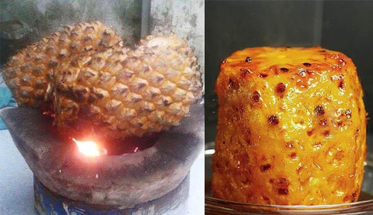 Cách dùng dứa nướng cùng phèn chua