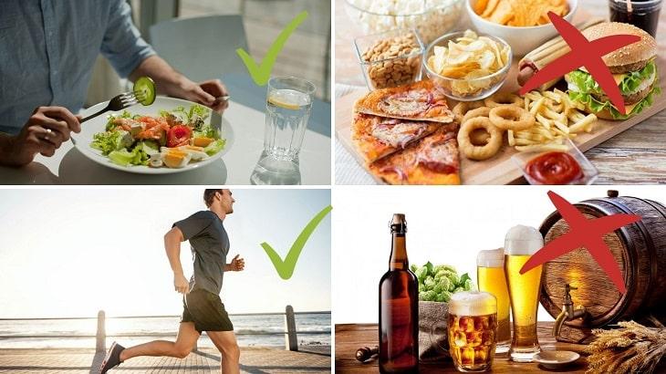 Thay đổi thói quen ăn uống và có một lối sống lành mạnh