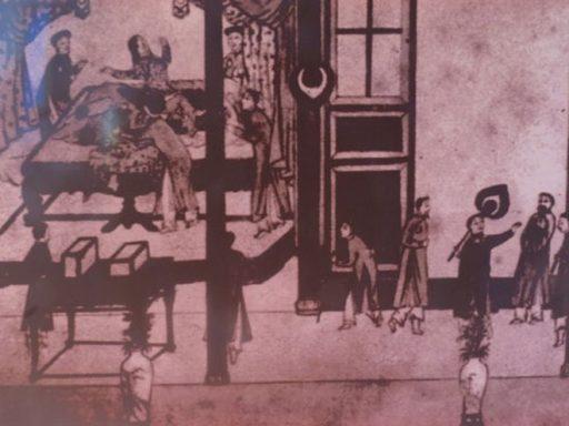 Cảnh thăm mạch dưới thời Nguyễn ở Huế - Ảnh: T.L