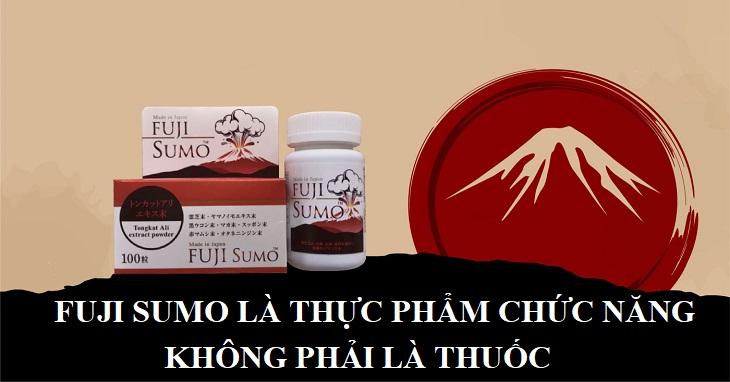 Viên uống tăng cường sinh lý nam Fuji Sumo là thực phẩm chức năng, không phải là thuốc và không có tác dụng chữa bệnh