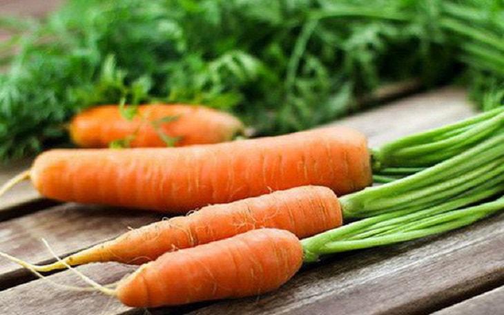Trong cà rốt có nhiều thành phần tốt cho thận