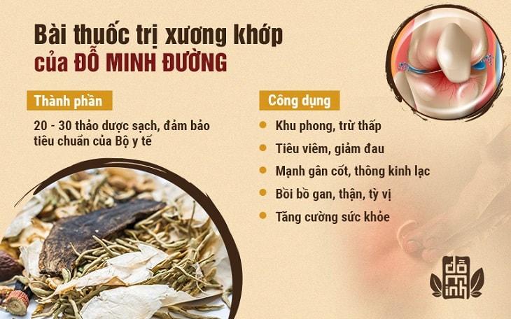 Thành phần, công dụng bài thuốc chữa đau khớp gối của Đỗ Minh Đường