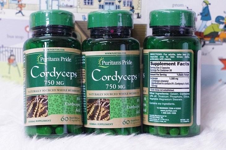Viên uống Puritan's Pride Cordyceps Mushroom tốt cho sức khỏe