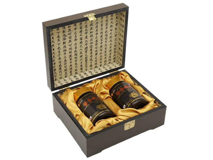 Sản phẩm dạng viên của hãng KeukDong, một hộp gồm 2 lọ