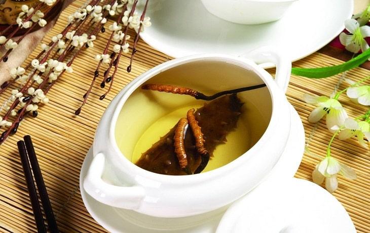 Đông trùng hạ thảo nguyên con hãm trà