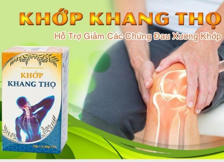 Khớp Khang Thọ chỉ là sản phẩm hỗ trợ điều trị bệnh lý xương khớp