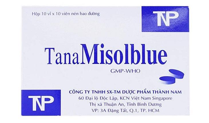 Thuốc chữa viêm đường tiết niệu màu xanh TanaMisolblue được sản xuất ở Việt Nam