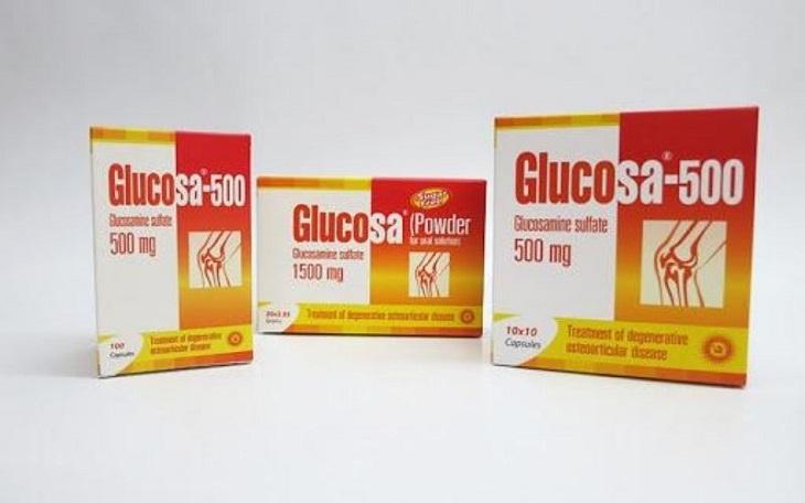 Glucosa-500 là sản phẩm điều trị các bệnh đau nhức xương khớp nổi tiếng của Thái Lan
