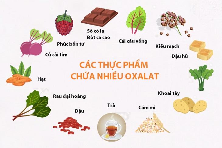 Các loại thực phẩm chứa nhiều axit oxalic người bệnh cần tránh