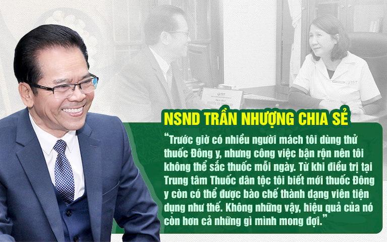 NS Trần Nhượng chia sẻ về sự tiện lợi của bài thuốc