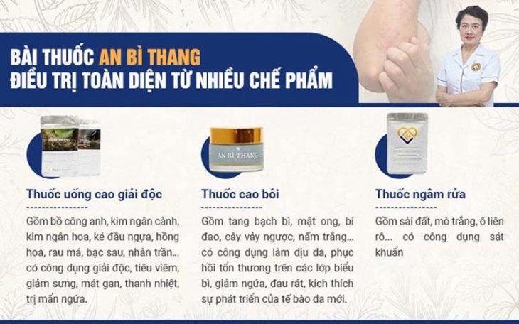Bài thuốc An Bì Thang gồm 3 chế phẩm kết hợp