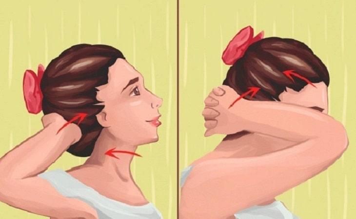 Bài tập nghiêng đầu sang hai bên tác động vào khớp cổ