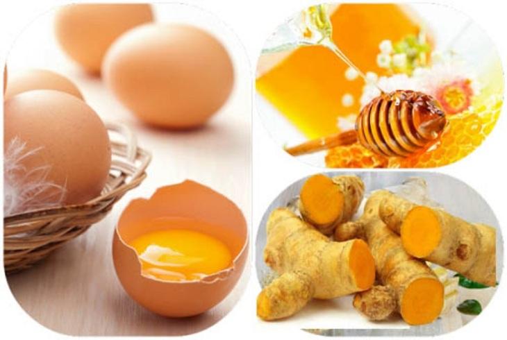 Trứng gà - nghệ và mật ong là bộ ba chữa dạ dày hiệu quả