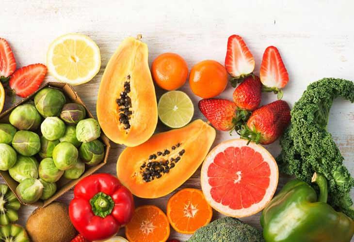 Bổ sung các loại rau củ quả giàu Vitamin và khoáng chất để tăng cường sức đề kháng cho da