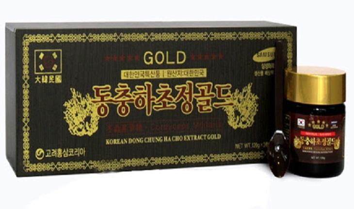 Cao đông trùng hạ thảo GOLD được chiết xuất từ nấm đông trùng hạ thảo nguyên chất 100%