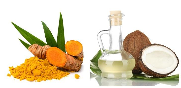 Kết hợp quả dừa và bột nghệ cũng là cách giảm đau dạ dày hữu hiệu