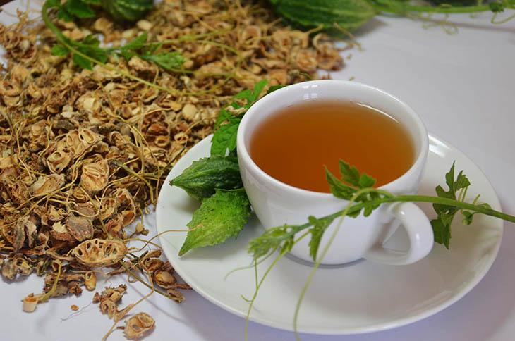 Uống trà khổ qua tốt cho tiêu hóa