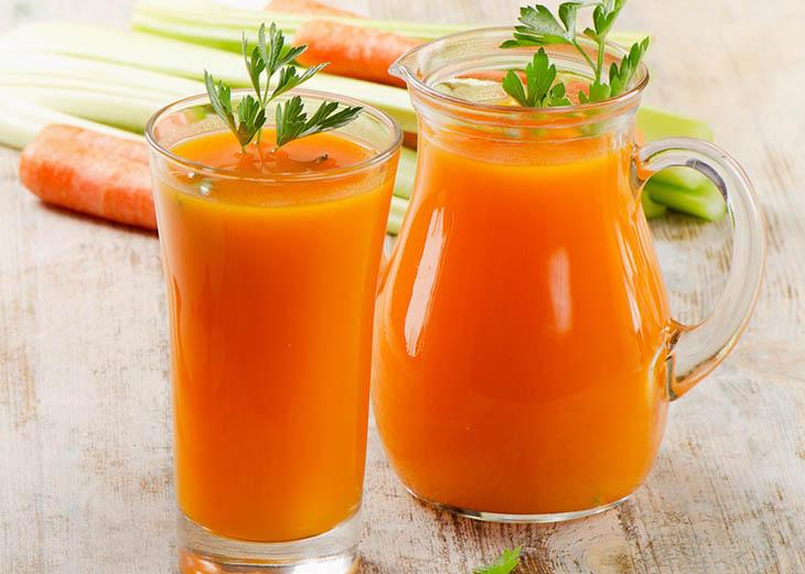 Nước ép cà rốt mật ong thơm ngon, tốt cho tiêu hóa