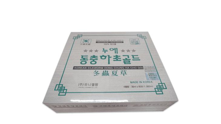 Đông trùng hộp gỗ trắng Hanil Green Pharm có xuất xứ từ Hàn Quốc