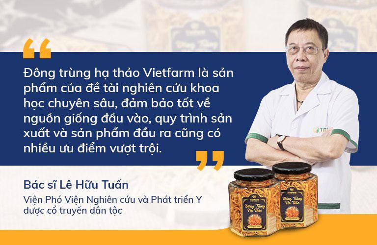 BS Lê Hữu Tuấn nhận định chất lượng của ĐTHT Vietfarm