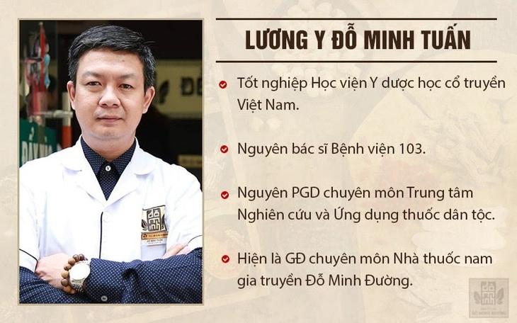 Lương y Đỗ Minh Tuấn với hơn 20 năm khám chữa bệnh bằng y học cổ truyền