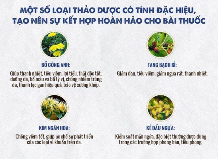 Các vị thuốc trong An Bì Thang đều đảm bảo 100% tự nhiên, được thu hái từ các vườn thảo dược đạt chuẩn GACP-WHO