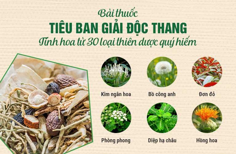 Tiêu ban Giải độc thang hòa quyện 100% thảo dược tự nhiên
