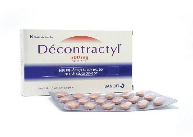 Decontractyl là thuốc làm giãn các cơ, giảm thiểu căng cứng cơ