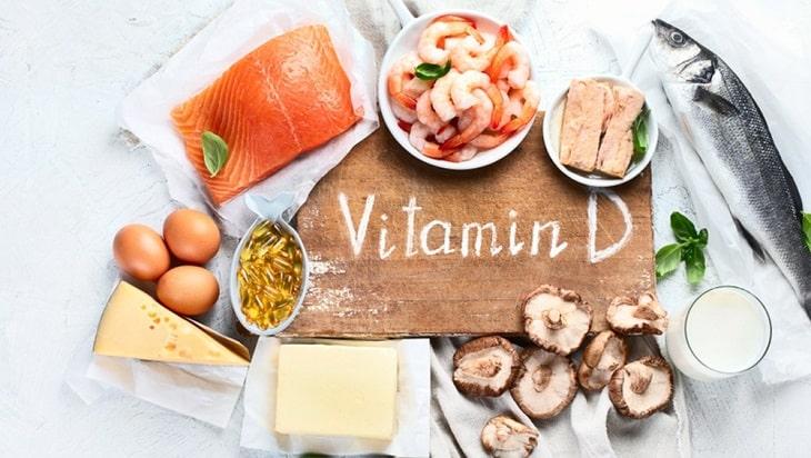 Nhóm thực phẩm giàu Vitamin D cũng rất tốt