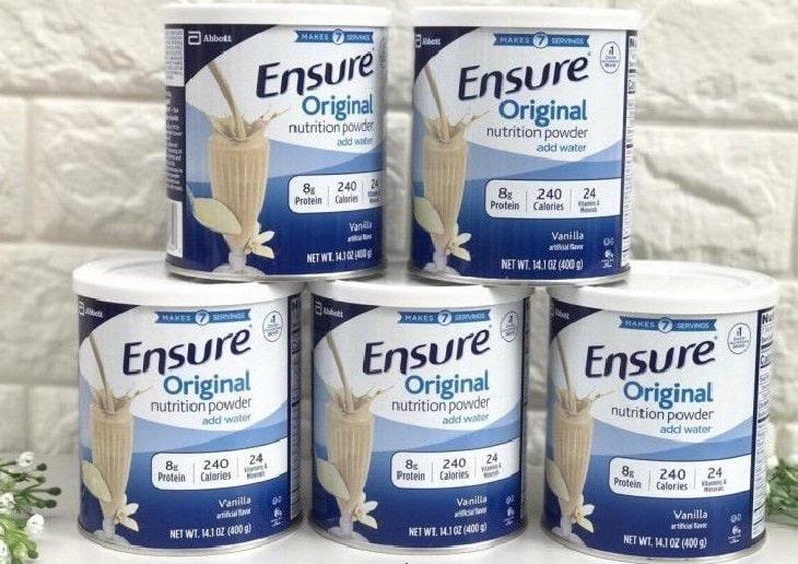 Ensure là một trong những dòng sữa chất lượng dành cho người bị thoát vị đĩa đệm