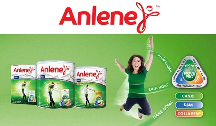 Anlene cũng là một trong những thương hiệu sữa chuyên biệt dành cho người lớn