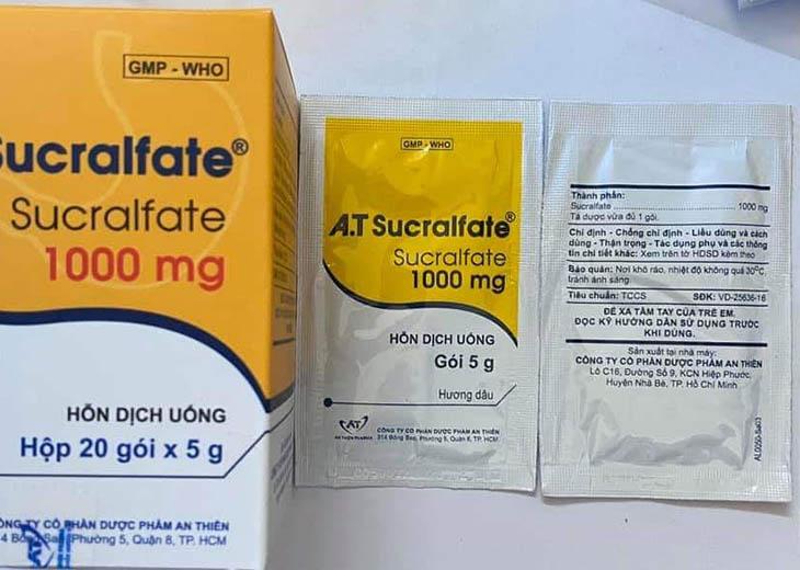 Thuốc A.T Sucralfate giúp giảm các triệu chứng do đau dạ dày