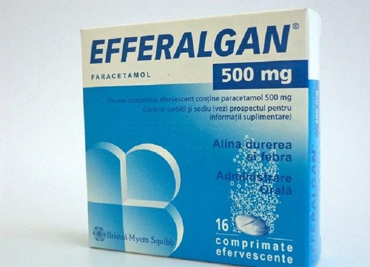 Thuốc giảm đau efferalgan được kê nhiều