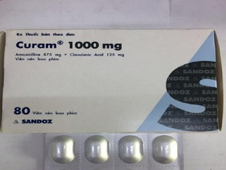 Thuốc kháng sinh Curam 1g điều trị thoát vị đĩa đệm